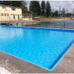 Resurfacing council pool, pool with water