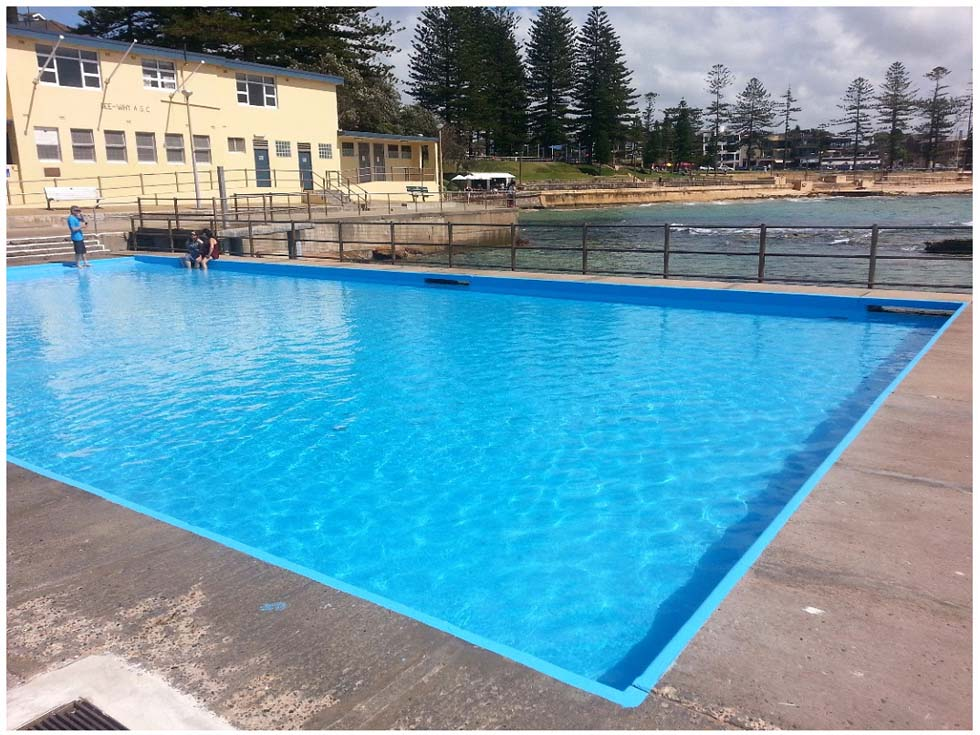 Luxapool pool paint resurfacing council pools for Swimming pool resurfacing sydney