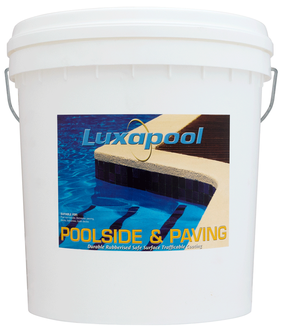 Luxapool poolside and paving