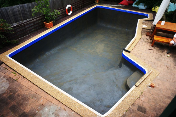 Luxapool Pool Paint Before And After Diy Pool Resurfacing