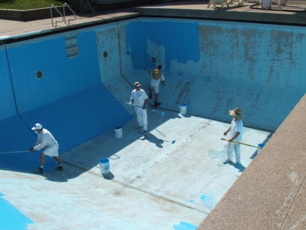 Luxapool pool paint for aquaculture marine containment for Epoxy coating for swimming pools