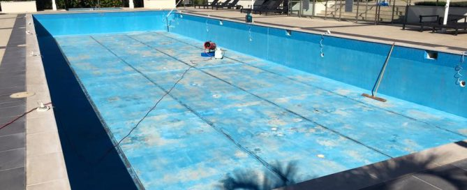 Pool painting preparations