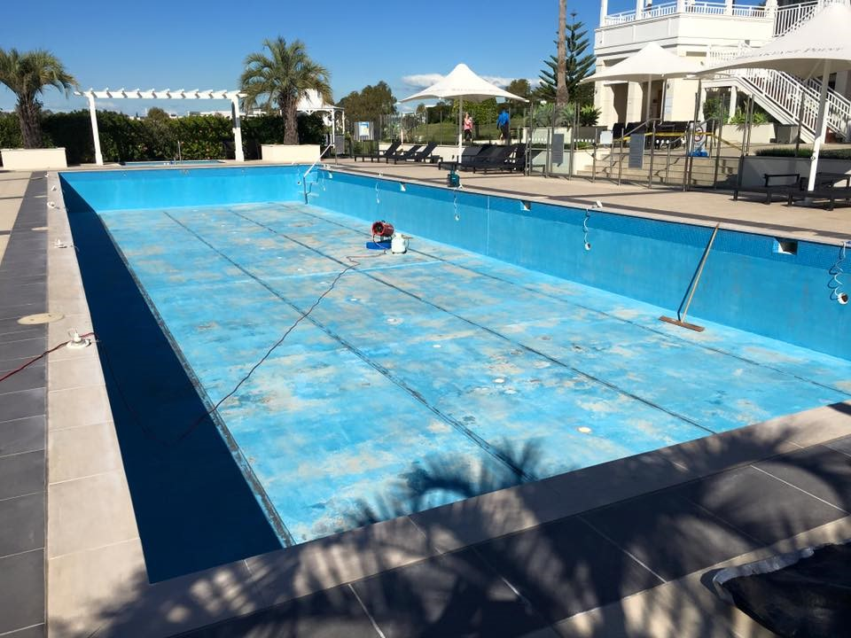 Luxapool pool paint commercial pool resurfacing for Swimming pool resurfacing sydney