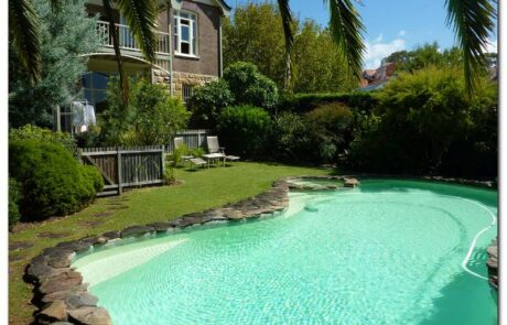 Mosman domestic pool painted with Luxapool pool paint riversand
