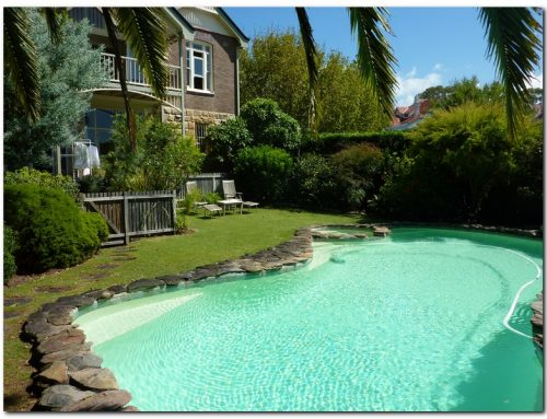 Mosman domestic pool painted with luxapool epoxy swimming - Domestic swimming pools ...