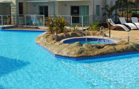 Residential North Bondi olympic-size pool with water painted with Luxapool epoxy pacific blue. Premium finish
