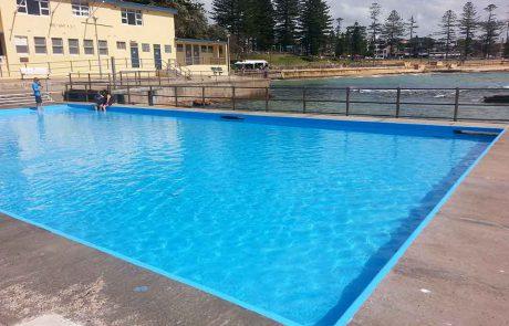 Pool resurfaced in Luxapool paint
