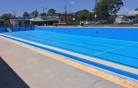 Olympic-sized poo painted with Luxapool