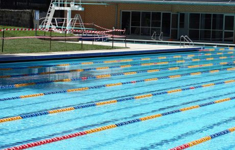 North Bondi olympic-size pool painted with Luxapool epoxy pacific blue