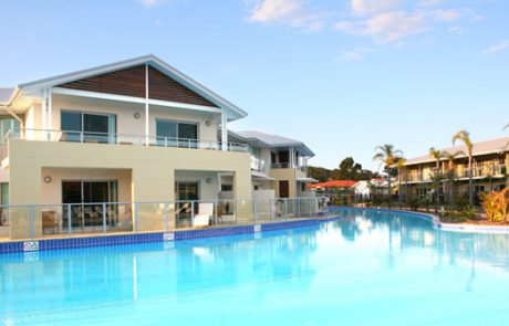 Bondi pool painted with Luxapool epoxy pacific blue