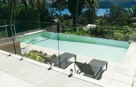 Retouched Riversand domestic pool at Palm Beach