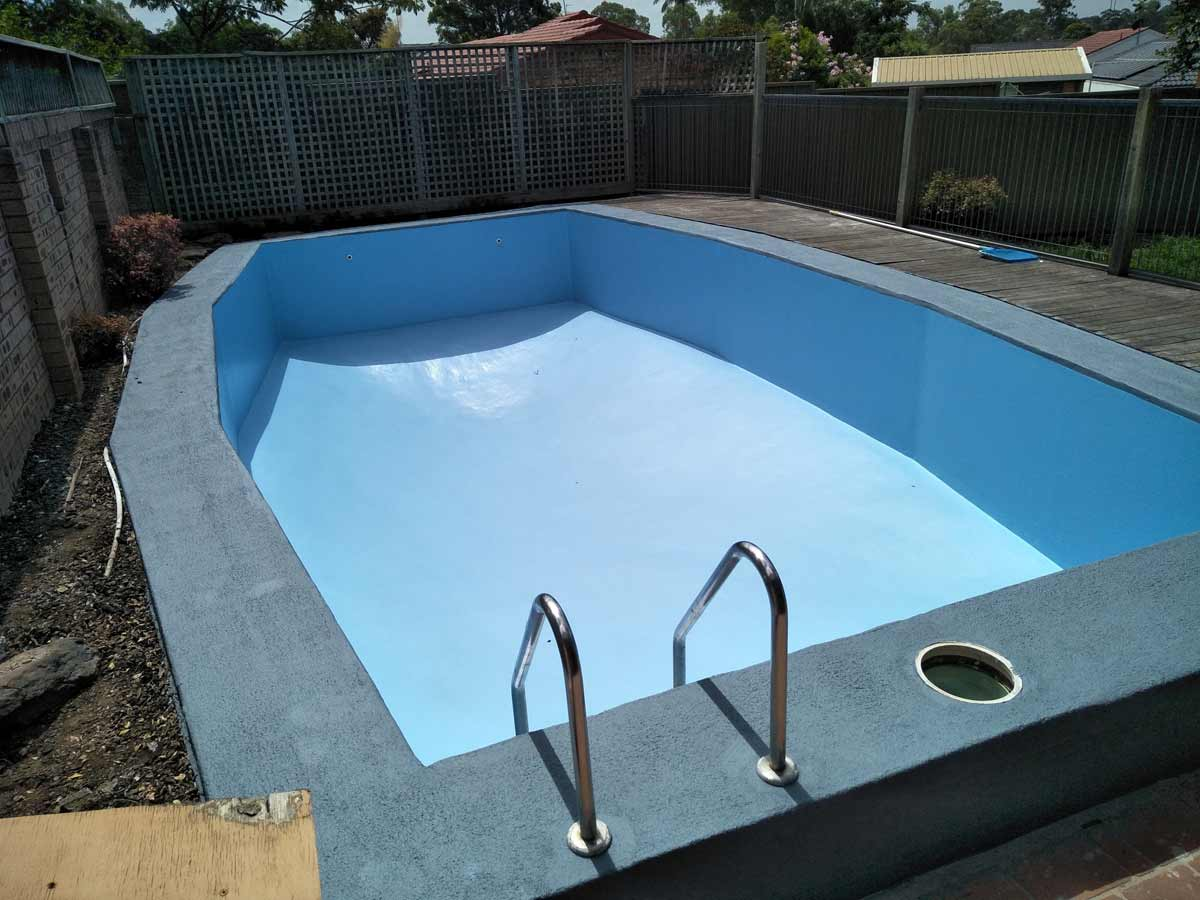 Pool coping updated in LUXAPOOL Poolside & Paving in Platinum Grey