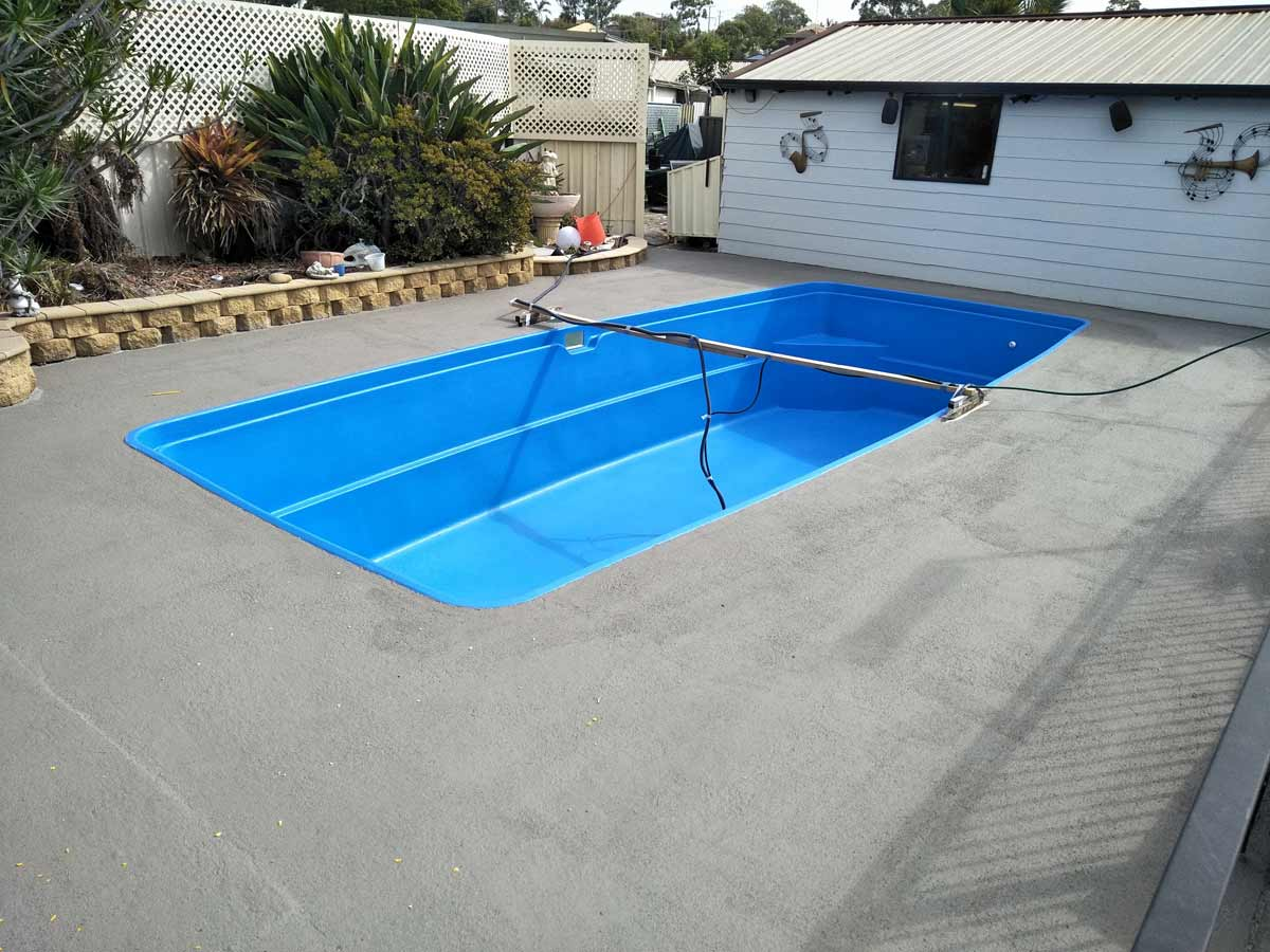Luxapool pool paint pool surrounds paint gallery winter brown for Swimming pool resurfacing sydney
