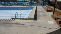 Empty pool in Canada bay, before painting
