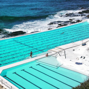 BONDI Icebergs Ocean Pools painted with LUXAPOOL Chlorinated Rubber in White