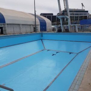 Canberra Olympic Dive Pool painted in LUXAPOOL Pacific Blue Epoxy
