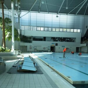 Resurfacing Sydney Olympic Park Aquatic Centre Training Pool with LUXAPOOL Epoxy Pacific Blue