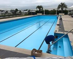 Breakfast Point Country Club painted in LUXAPOOL Epoxy Adriatic